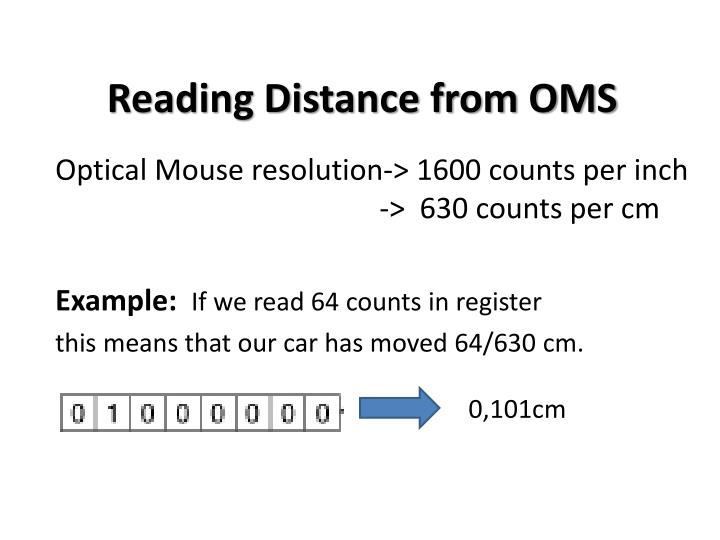 Reading Distance from OMS