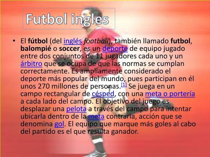 Futbol ingles