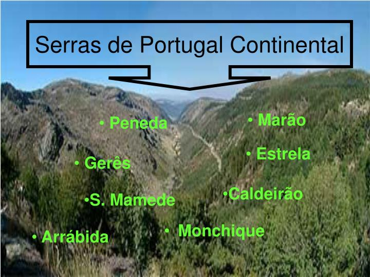 Serras de Portugal Continental