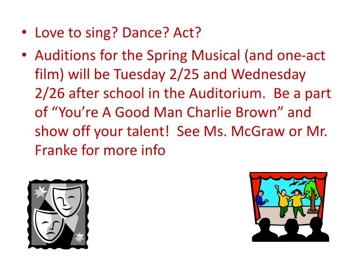 Love to sing? Dance? Act?