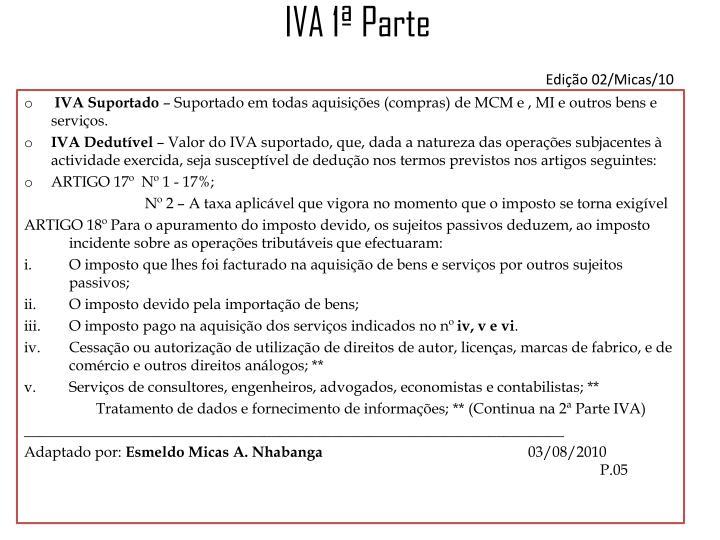 IVA 1ª Parte