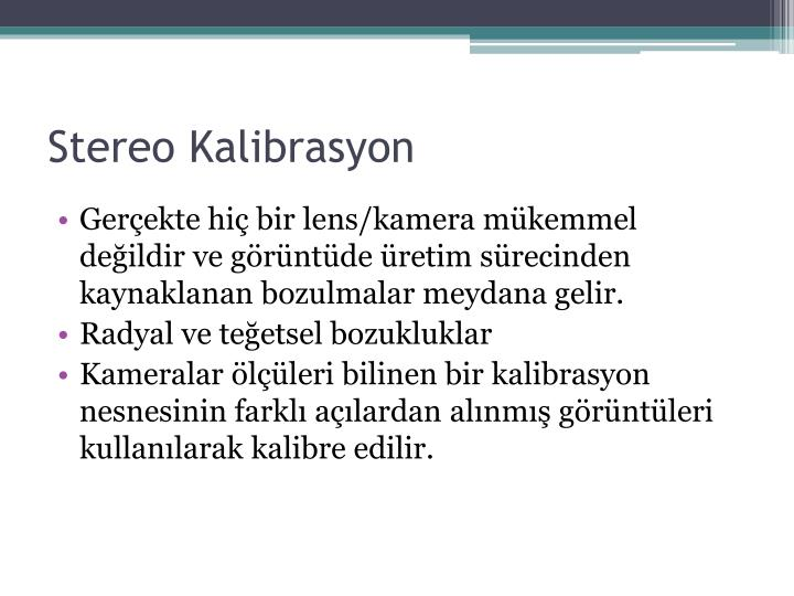Stereo Kalibrasyon