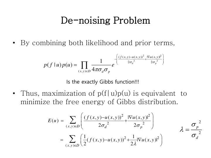 De-noising Problem