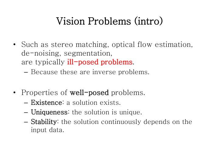 Vision Problems (intro)