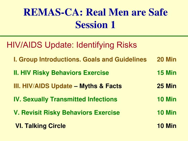 REMAS-CA: Real Men are Safe