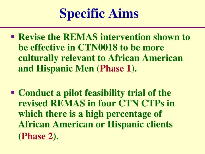 Specific Aims