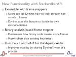 new functionality with stackwalkerapi