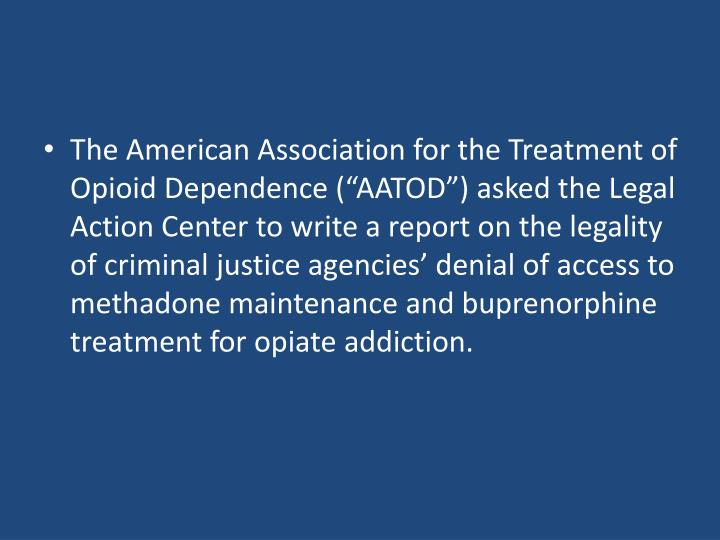 The American Association for the Treatment of