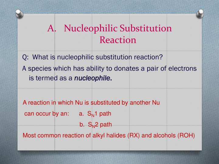 Nucleophilic Substitution Reaction