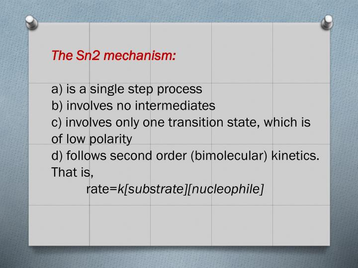 The Sn2 mechanism:
