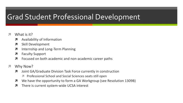 Grad Student Professional Development