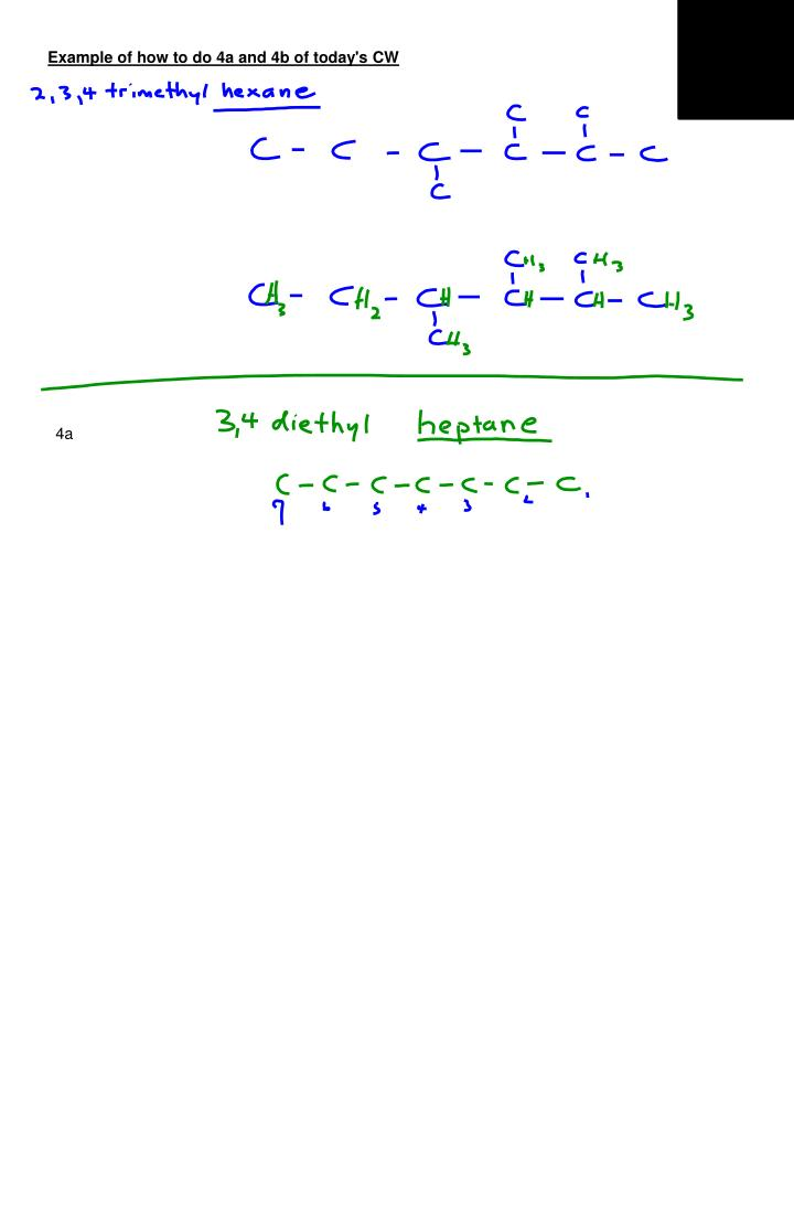 Example of how to do 4a and 4b of today's CW