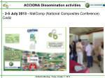 acciona dissemination activities