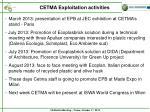 cetma exploitation activities