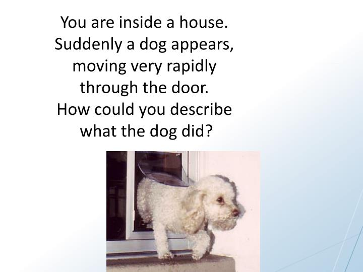 You are inside a house.