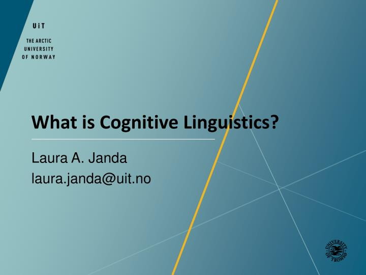 What is cognitive linguistics
