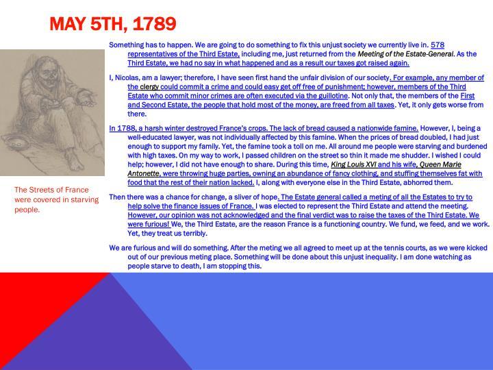 May 5th, 1789