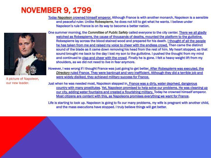 November 9, 1799