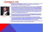 november 9 1799