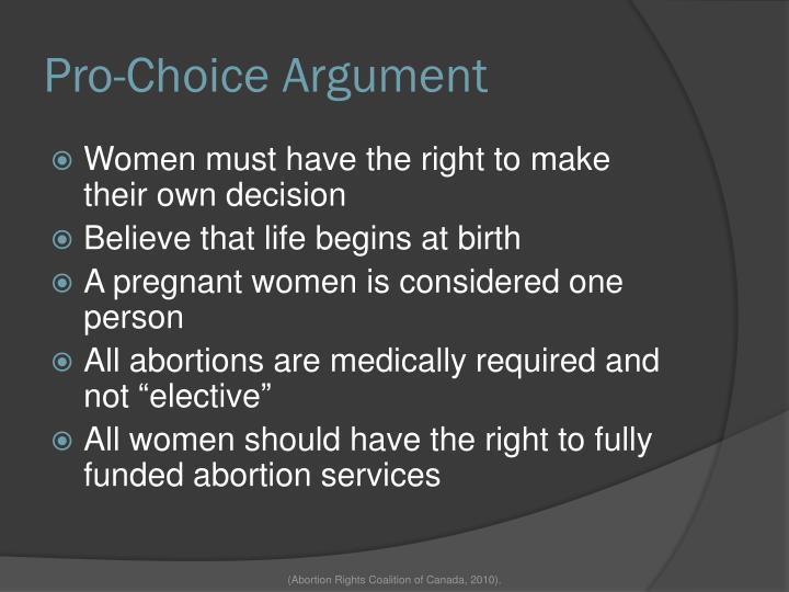 Pro-Choice Argument