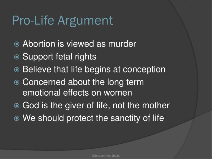 Pro-Life Argument