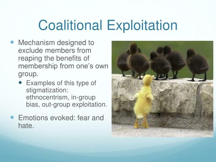 Coalitional Exploitation