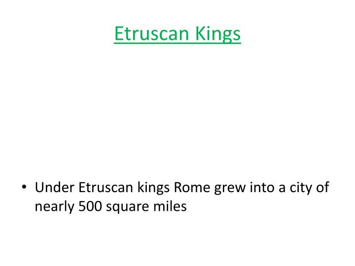 Etruscan Kings