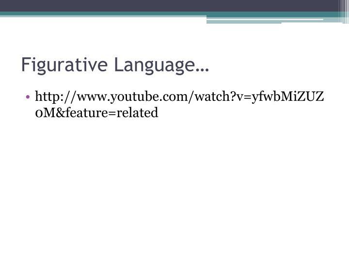 Figurative Language…