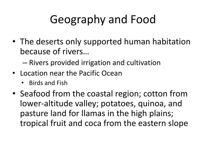 Geography and food