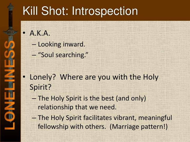 Kill Shot: Introspection