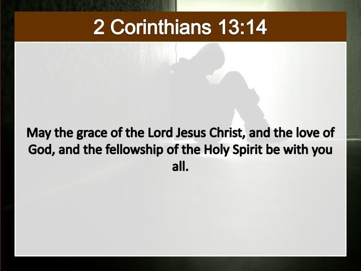 2 Corinthians 13:14