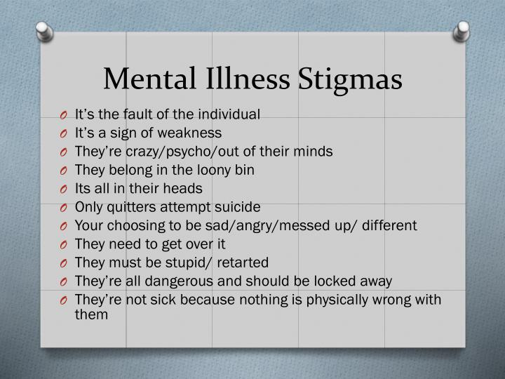 Mental Illness Stigmas