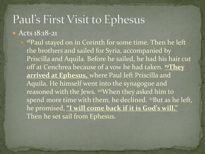 Paul's First Visit to Ephesus