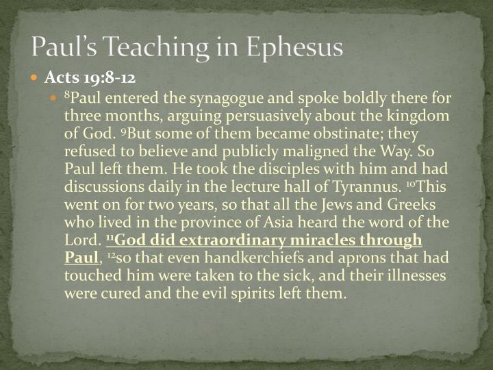 Paul's Teaching in Ephesus