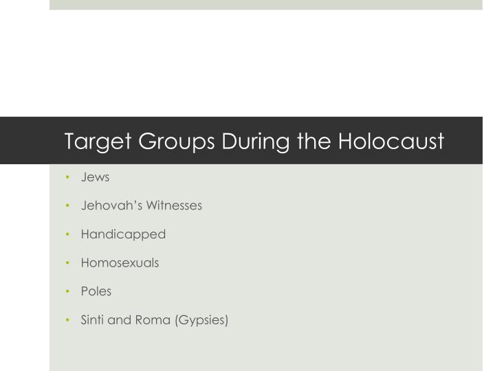 What is a good thesis statement for a research paper written about Jehovah witness's in the holocaust?