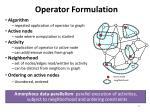 operator formulation