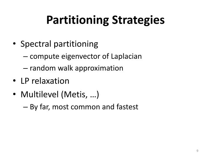 Partitioning Strategies