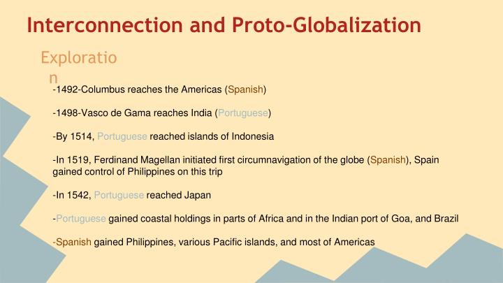 Interconnection and proto globalization
