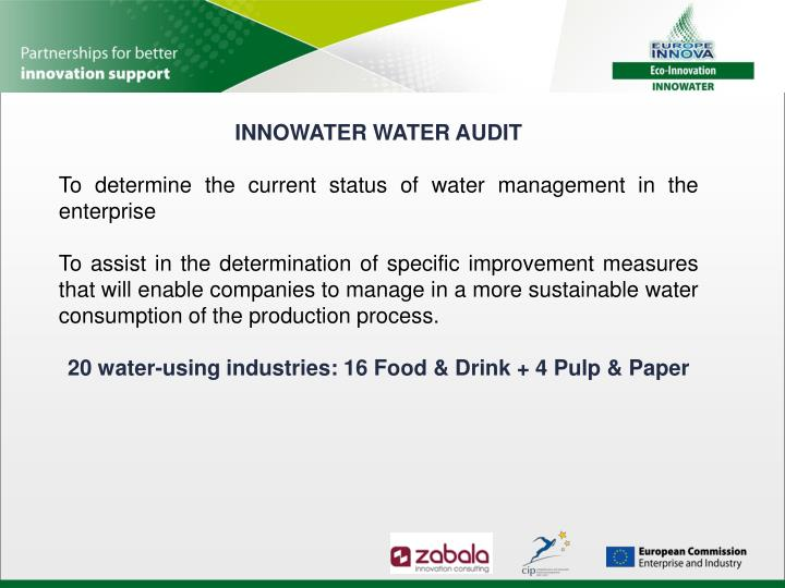 INNOWATER WATER AUDIT