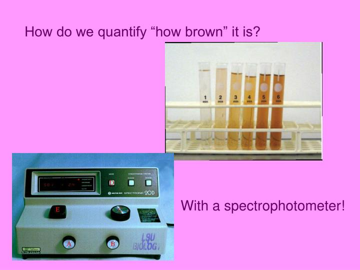"How do we quantify ""how brown"" it is?"
