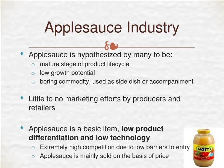 Applesauce Industry