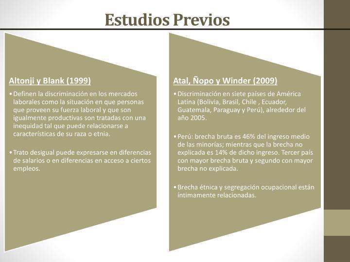 Estudios Previos