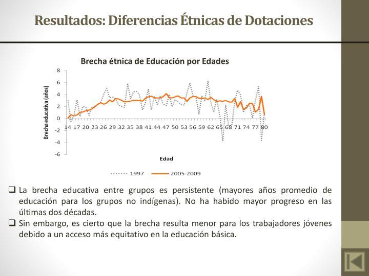 Resultados: Diferencias Étnicas de Dotaciones