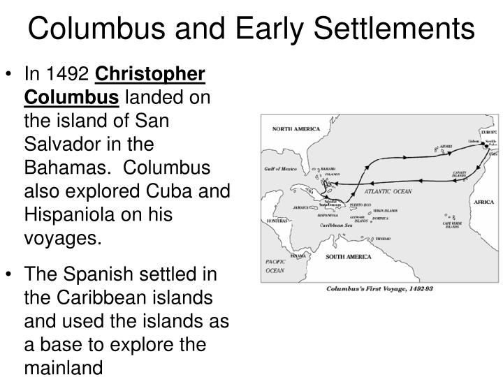 Columbus and early settlements