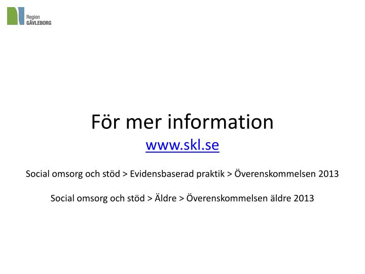 För mer information