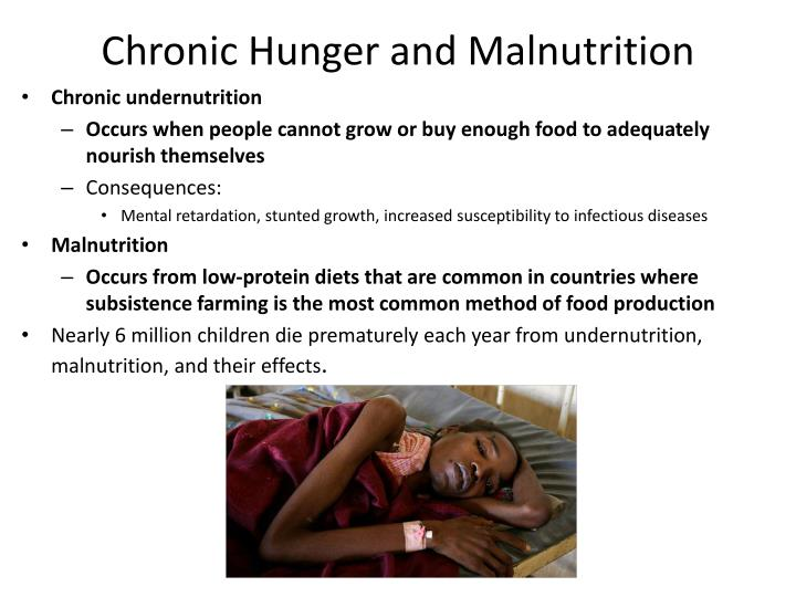 Chronic Hunger and Malnutrition