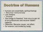doctrine of humans