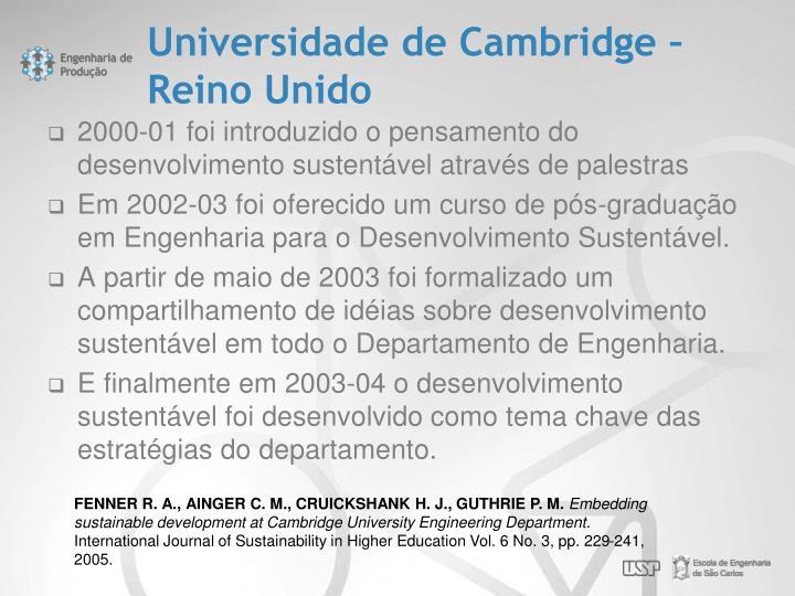 Universidade de Cambridge – Reino Unido