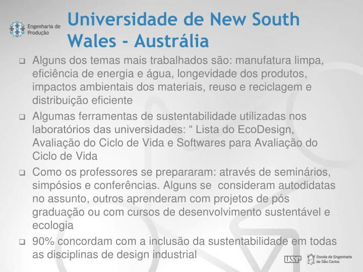 Universidade de New South Wales - Austrália
