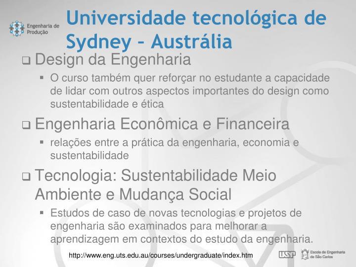 Universidade tecnológica de Sydney – Austrália